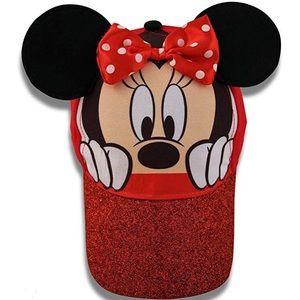 Little Girls Minnie Mouse Character Baseball Cap